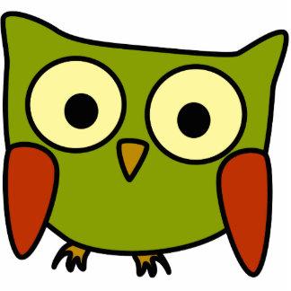 Retro Groovy Owl Christmas Ornament Photo Sculpture