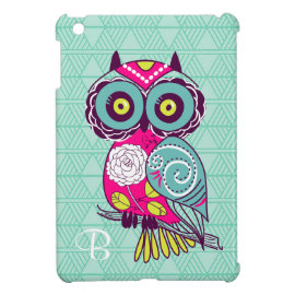 Retro Groovy Owl Teal Case For The iPad Mini