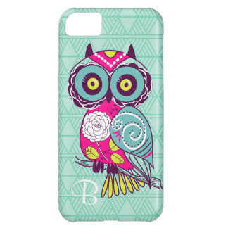 Retro Groovy Owl Teal Cover For iPhone 5C