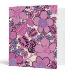 Retro Groovy Pink Binder binders