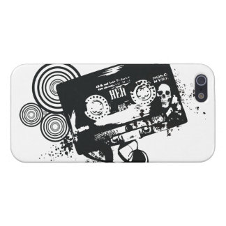 Retro Grunge Audio Tape & Skull Case For iPhone SE/5/5s