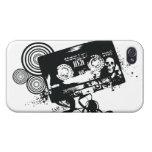 Retro Grunge Audio Tape & Skull iPhone 4/4S Covers