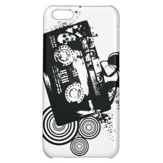 Retro Grunge Audio Tape & Skull iPhone 5C Cover