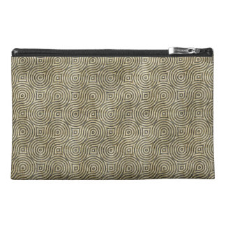 Retro Grunge Beige Pattern Travel Accessory Bags