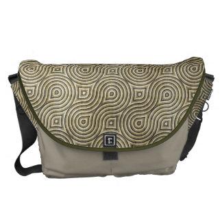 Retro Grunge Beige Pattern Commuter Bag