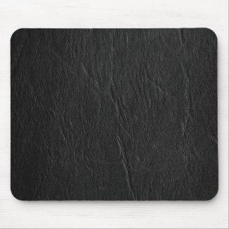 Retro Grunge Black Leather Custom Mouse Pad