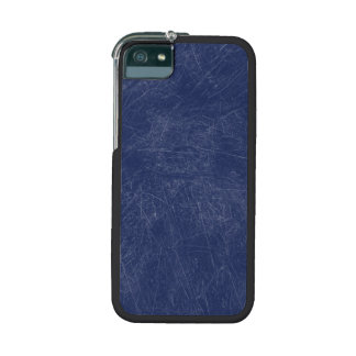 Retro Grunge Blue Scratched Texture iPhone 5/5S Cases