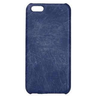 Retro Grunge Blue Scratched Texture iPhone 5C Case