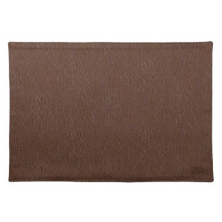 Retro Grunge Brown Leather Texture Placemat