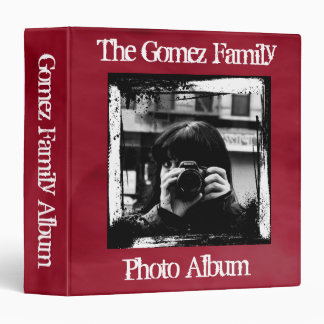 Retro Grunge Custom Personalized Photo Album 3 Ring Binder