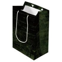 Retro Grunge Emo Green Texture Medium Gift Bag