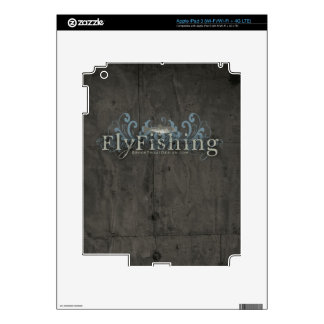 Retro Grunge Fly Fishing iPad 3 Decals