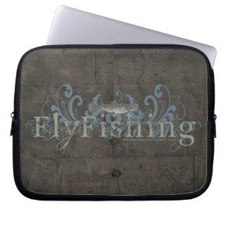 Retro Grunge Fly Fishing Laptop Computer Sleeves