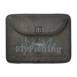 Retro Grunge Fly Fishing MacBook Pro Sleeves