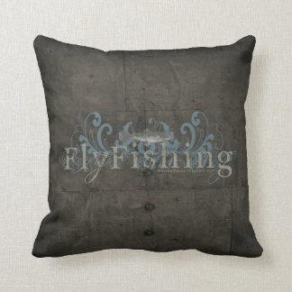 Retro Grunge Fly Fishing Pillows