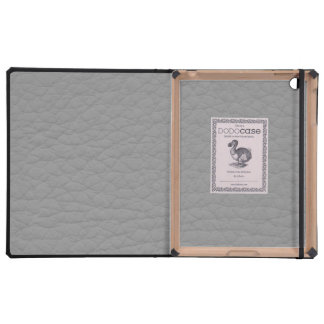 Retro Grunge Gray Leather Custom iPad Covers