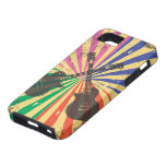 Retro Grunge Guitars on starburst background iPhone 5 Cover