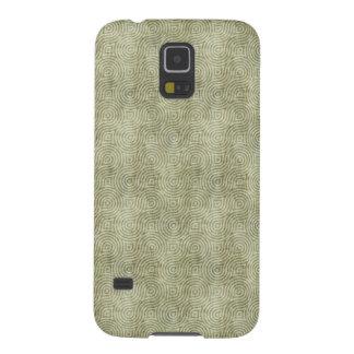 Retro Grunge Light Green Pattern Galaxy S5 Cover