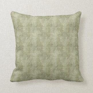 Retro Grunge Light Green Pattern Throw Pillow