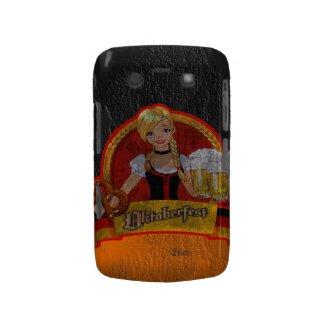 Retro Grunge Oktoberfest Waitres Girl Blackberry