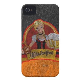 Retro Grunge Oktoberfest Waitres Girl iPhone 4 Cas