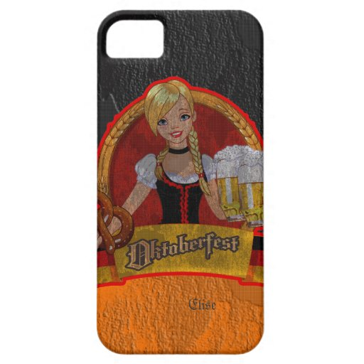 Retro Grunge Oktoberfest Waitres Girl iPhone 5 Cas iPhone 5 Cases