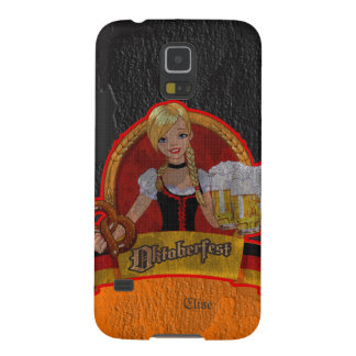 Retro Grunge Oktoberfest Waitres Girl Samsung S5 Galaxy S5 Covers