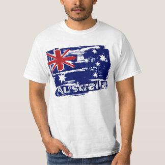 Retro grunge painted Australia flag T-Shirt