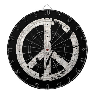 Retro Grunge Peace Sign Dart Board