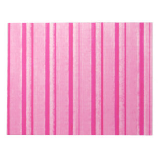 Retro Grunge Pink Stripe Notepad