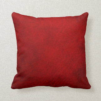 Retro Grunge Red Leather Custom Throw Pillows