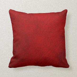 Retro Grunge Red Leather Custom Throw Pillow