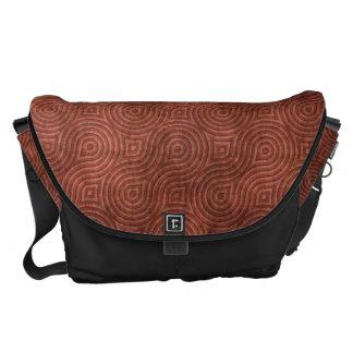 Retro Grunge Red pattern Messenger Bag