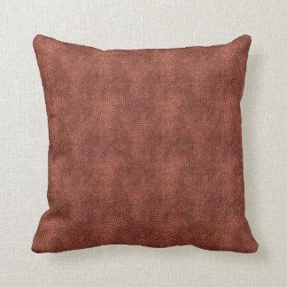 Retro Grunge Red Pattern Throw Pillow