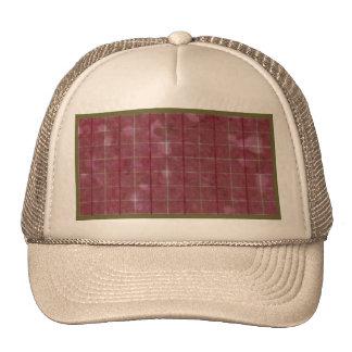 Retro Grunge Rose Sage Stripes Plaid Trucker Hat
