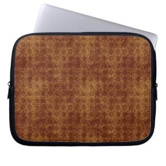 Retro Grunge Rust Diamond Pattern Computer Sleeves