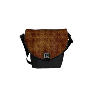 Retro Grunge Rust Diamond Pattern Courier Bags