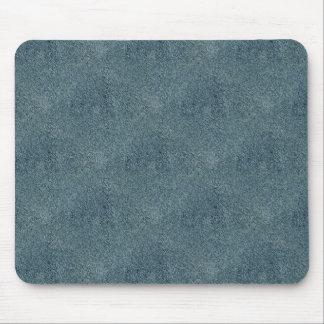 Retro Grunge Suede Custom Blue Texture Mouse Pad