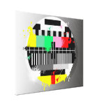 Retro grunge tv wrapped canvas gallery wrapped canvas