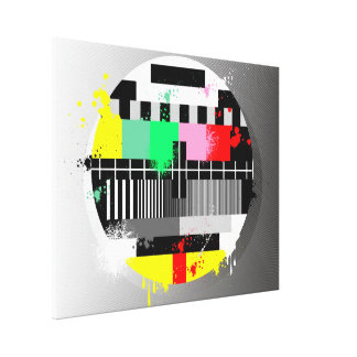 Retro grunge tv wrapped canvas canvas print