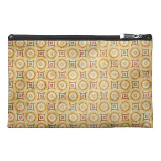 Retro Grunge Yellow Pattern Travel Accessory Bag