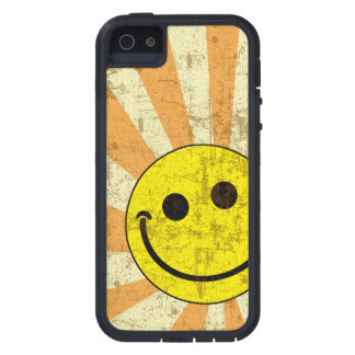 Retro Grungy Smiley Sunburst Case For iPhone SE/5/5s