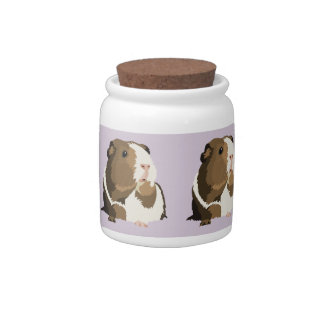 Retro Guinea Pig 'Betty' Storage Jar/Cannister Candy Jar