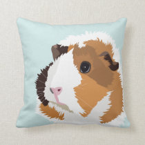 Retro Guinea Pig 'Elsie' Cushion