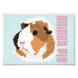 Retro Guinea Pig 'Elsie' Print (Frames Available!) Photo Print