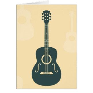 Retro guitar acoustic music cards