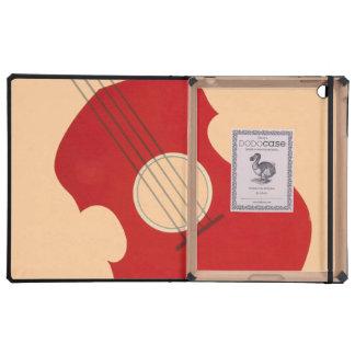 Retro Guitar Graphic Red Musical Instrument Design iPad Covers