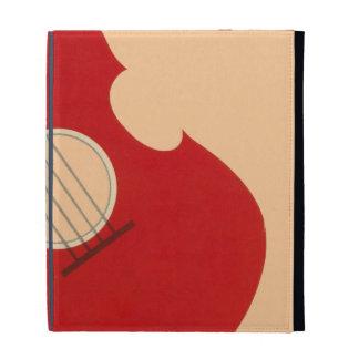 Retro Guitar Graphic Red Musical Instrument Design iPad Folio Covers