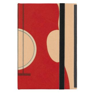 Retro Guitar Graphic Red Musical Instrument Design Covers For iPad Mini