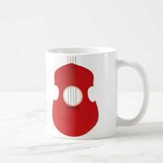 Retro Guitar Graphic Red Musical Instrument Design Mugs